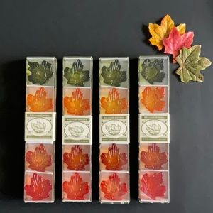 Williams Sonoma Maple Leaf Taper Candle Holders set of 4